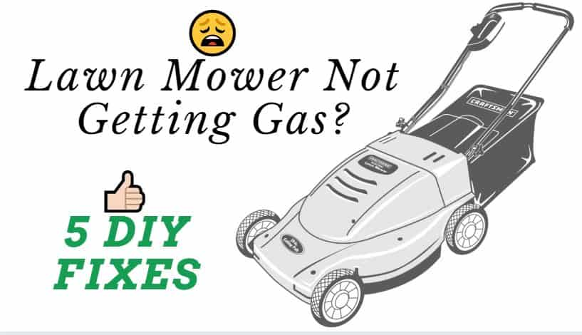 Lawn mower not getting gas to spark plug and won't start
