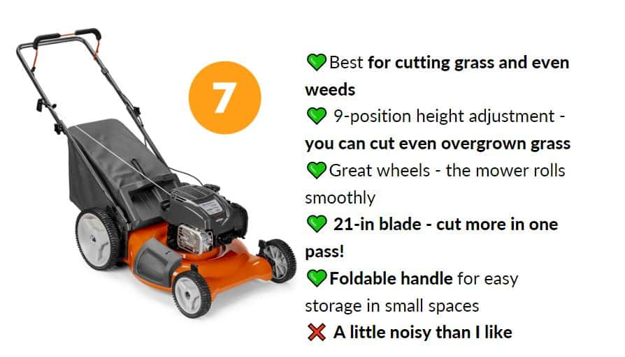 Best lawn mower under 0 with foldable handle