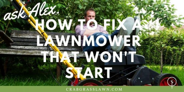 how to fix a lawnmower that wont start