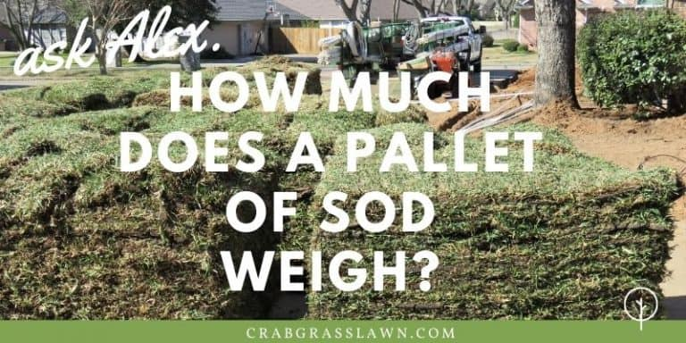 how much does a pallet of sod weigh