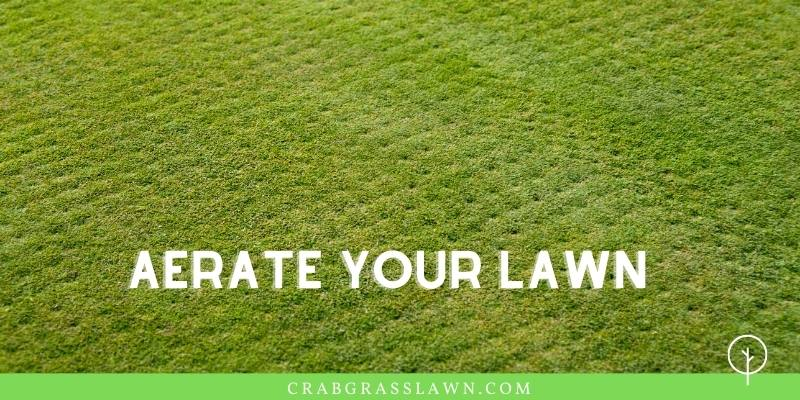 aerate lawn to help fix brown spots