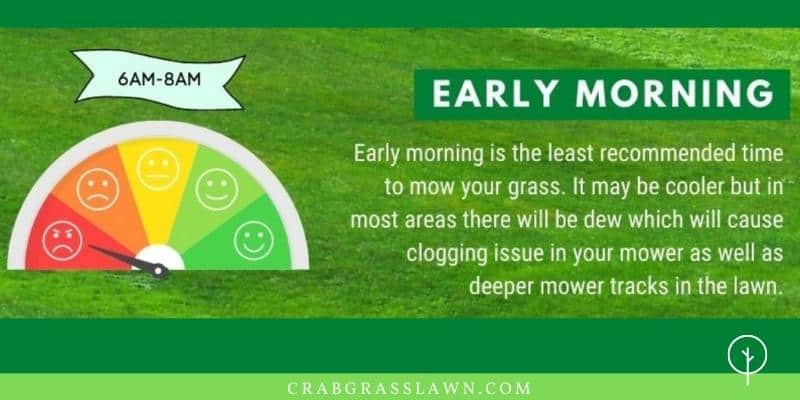 early-morning mow