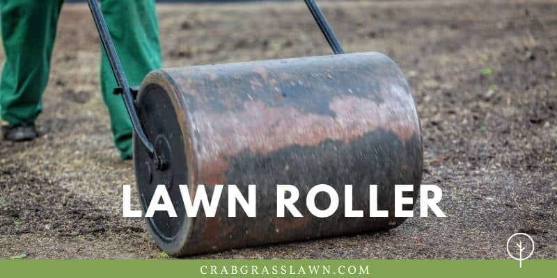 lawn roller over fresh planted sod