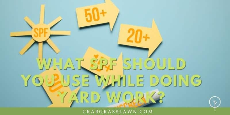 What SPF Should You Use While Doing Yard Work?