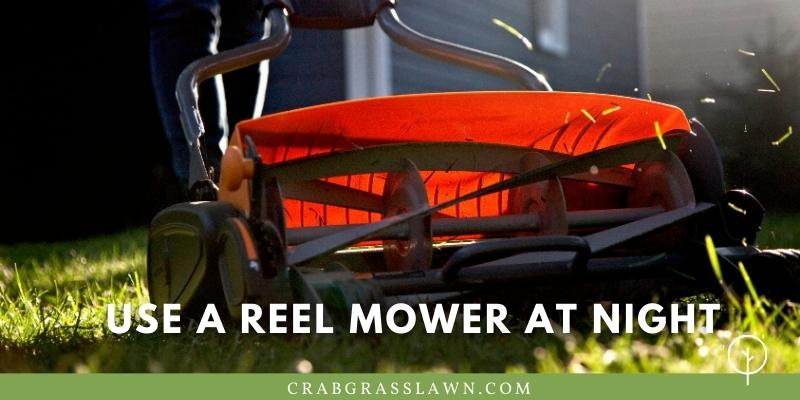 use a reel mower at night